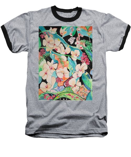 The Gallery Of Orchids 1 Baseball T-Shirt