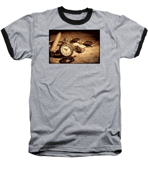 The Gambler's Watch Baseball T-Shirt by American West Legend By Olivier Le Queinec