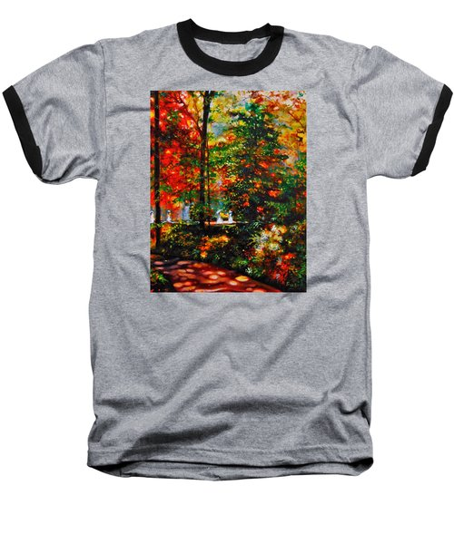 Baseball T-Shirt featuring the painting The Garden by Emery Franklin
