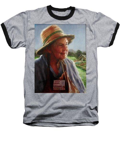 The Gardener Baseball T-Shirt by Janet McGrath