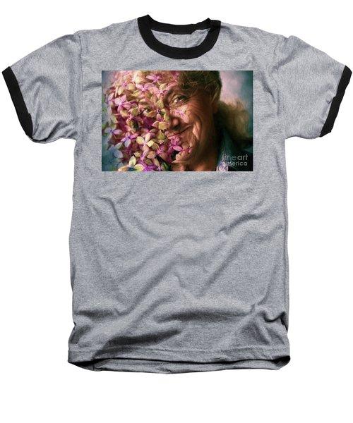 The Gardener Baseball T-Shirt by Jean OKeeffe Macro Abundance Art