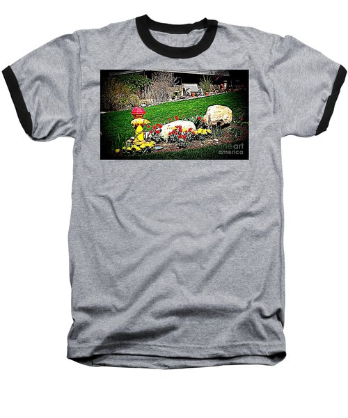 Baseball T-Shirt featuring the photograph The Gardener by Richard W Linford