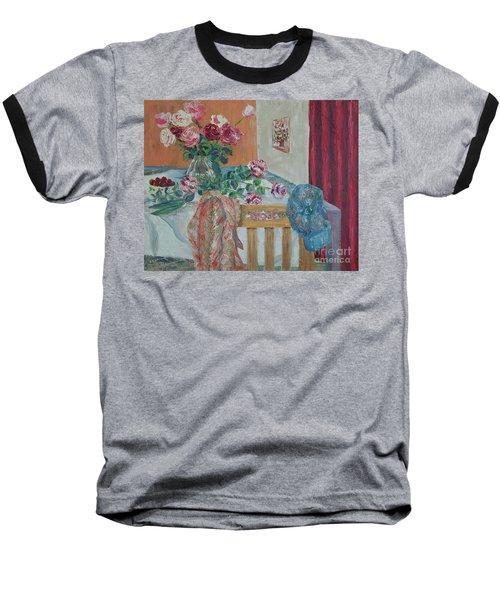 The Gardener's Table Baseball T-Shirt by Judith Espinoza