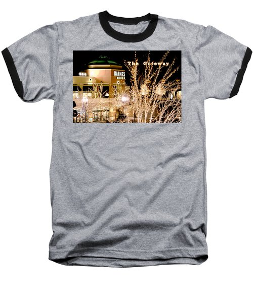 Baseball T-Shirt featuring the digital art The Gateway Mall by Gary Baird