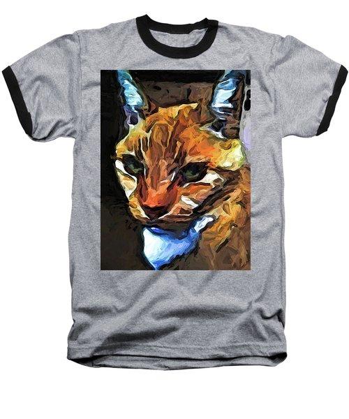 The Gaze Of The Gold Cat Baseball T-Shirt