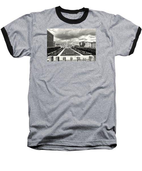 The Geometric Garden In Black And White Baseball T-Shirt