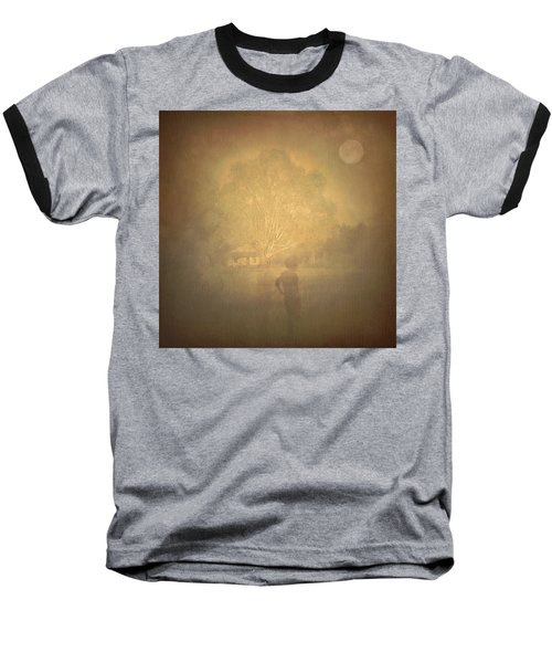 The Ghost Turns Away Baseball T-Shirt