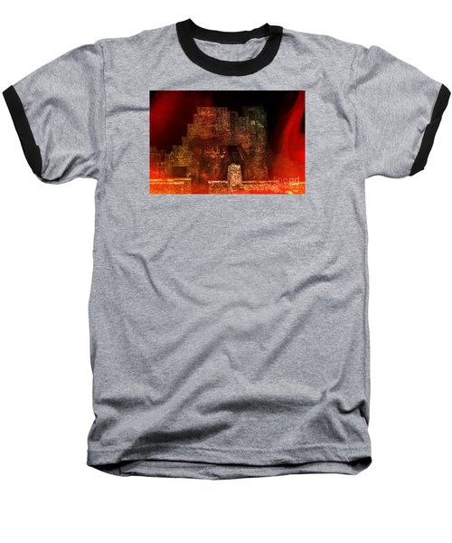 The Ghostly Ruins Of An Elizabethan Fireplace Baseball T-Shirt by Linsey Williams