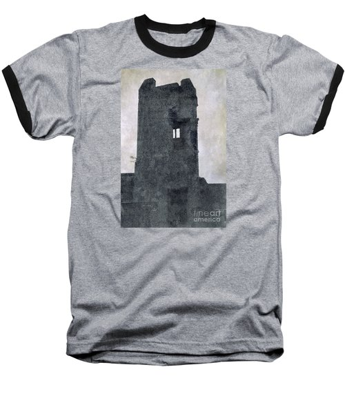 The Ghostly Tower Baseball T-Shirt by Linsey Williams