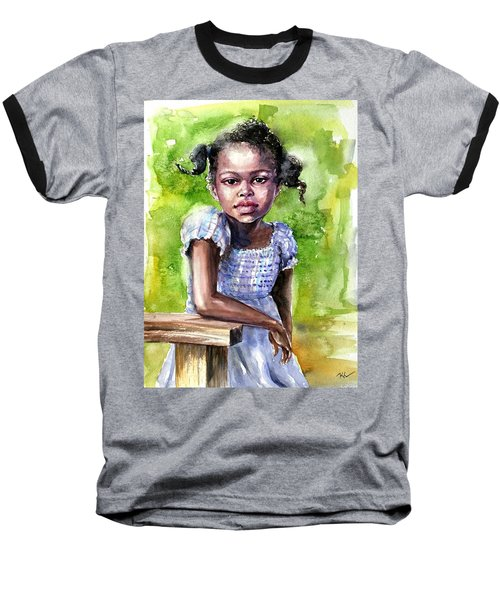 The Girl On The Veranda Baseball T-Shirt