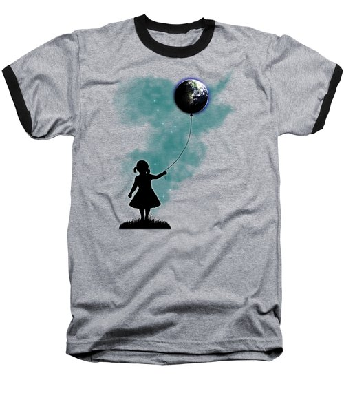 The Girl That Holds The World Baseball T-Shirt by Nicklas Gustafsson