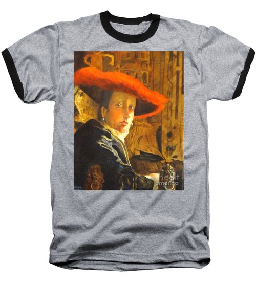 The Girl With The Red Hat After Jan Vermeer Baseball T-Shirt