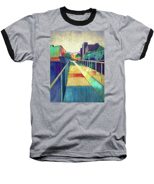 The Glass Bridge Baseball T-Shirt by Steven Llorca