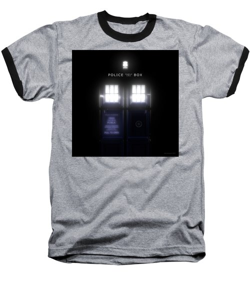 The Glass Police Box Baseball T-Shirt