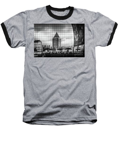 Baseball T-Shirt featuring the photograph The Glass Windows Of The Market Hall In Rotterdam by RicardMN Photography
