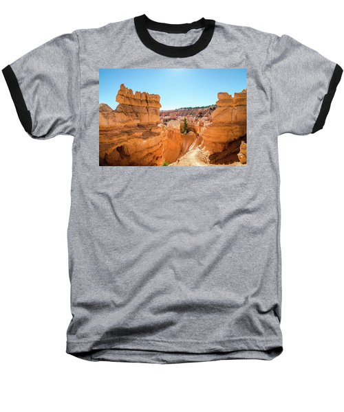 Baseball T-Shirt featuring the photograph The Glowing Canyon by Margaret Pitcher