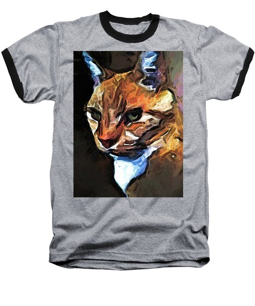 The Gold Cat With The Stage Presence Baseball T-Shirt