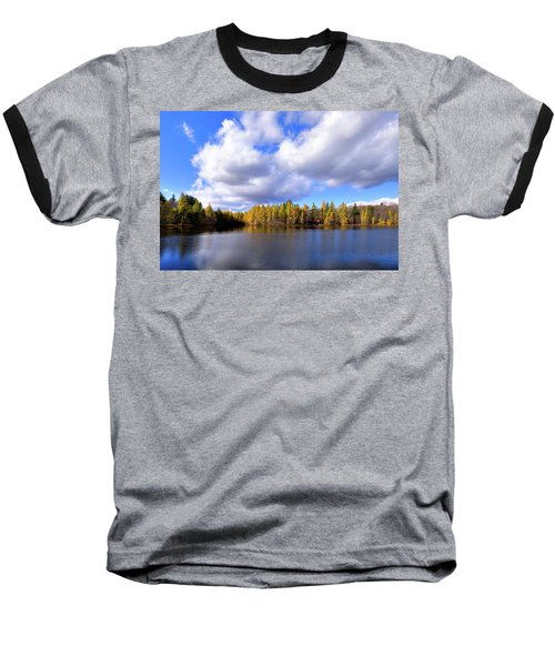 Baseball T-Shirt featuring the photograph The Golden Forest At Woodcraft by David Patterson