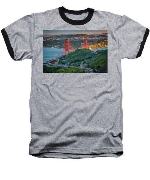 The Golden Gate At Sunset Baseball T-Shirt