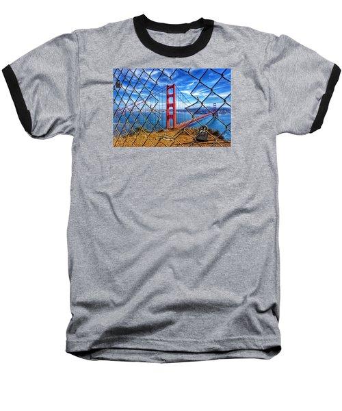The Golden Gate Bridge  Baseball T-Shirt by Alpha Wanderlust
