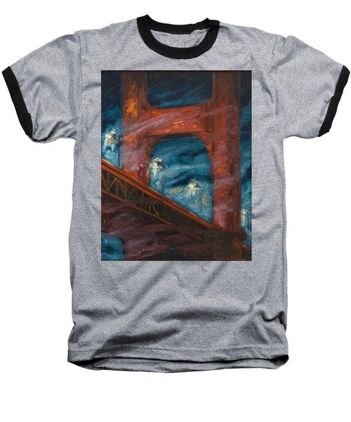 The Golden Gate Baseball T-Shirt by Rick Nederlof