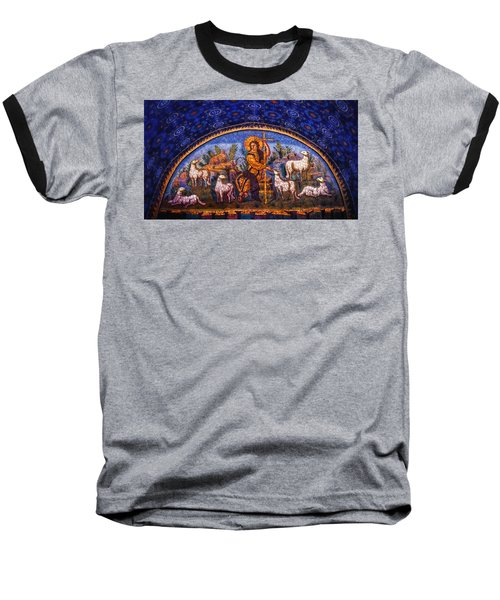 Baseball T-Shirt featuring the photograph The Good Shepherd by Nigel Fletcher-Jones