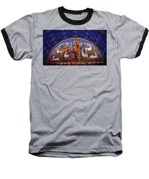 The Good Shepherd Baseball T-Shirt by Nigel Fletcher-Jones