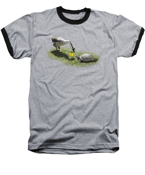 The Goose And The Turtle Baseball T-Shirt by Gravityx9   Designs