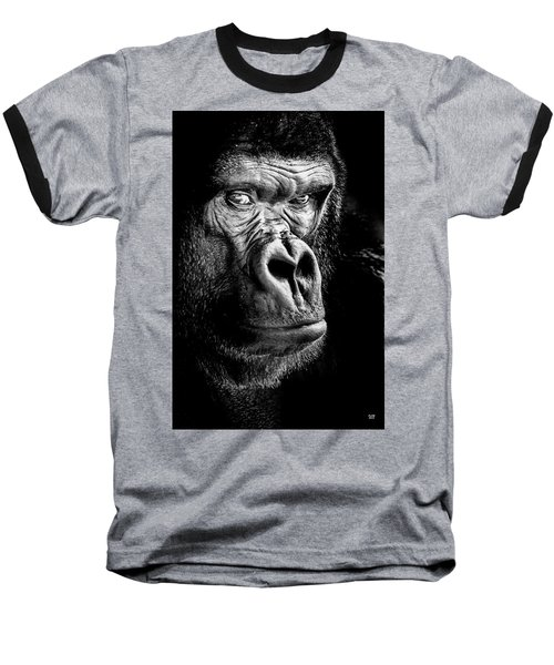 The Gorilla Large Canvas Art, Canvas Print, Large Art, Large Wall Decor, Home Decor Baseball T-Shirt by David Millenheft