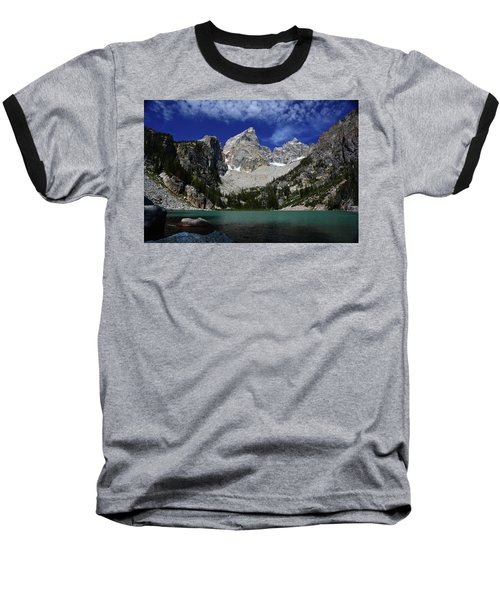 The Grand And Mount Owen From Delta Lake Baseball T-Shirt by Raymond Salani III