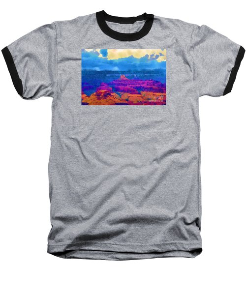 Baseball T-Shirt featuring the digital art The Grand Canyon Alive In Color by Kirt Tisdale