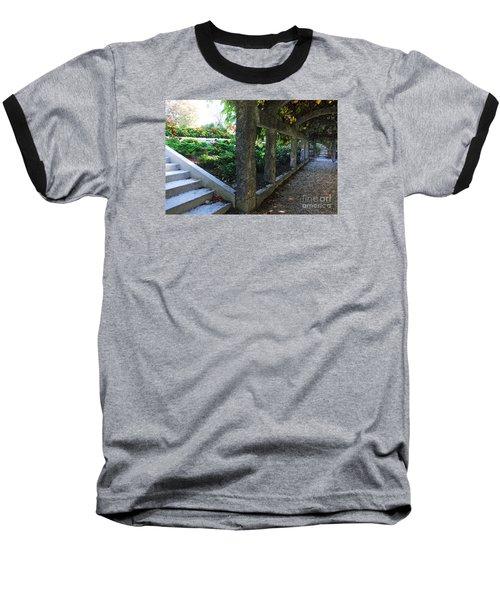 The Grape Arbor Path Baseball T-Shirt by David Blank