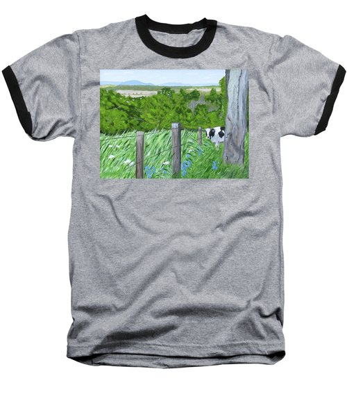 'the Grass Sings In The Meadow' Baseball T-Shirt
