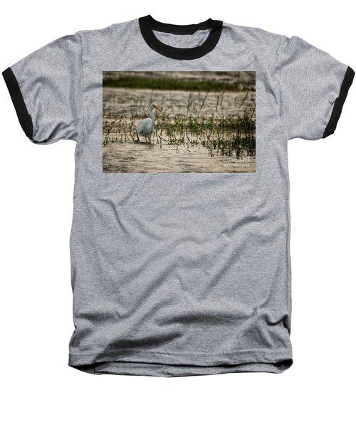 The Great Egret  Ardea Alba Syn  Casmerodius Albus  Baseball T-Shirt
