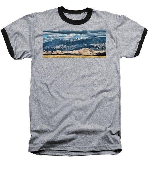 The Great Sand Dunes Panorama Baseball T-Shirt