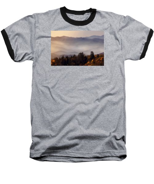 Baseball T-Shirt featuring the photograph The Great Smoky Mountains by Ellen Heaverlo