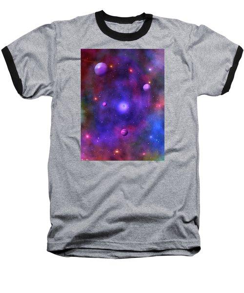 Baseball T-Shirt featuring the digital art The Great Unknown by Bernd Hau