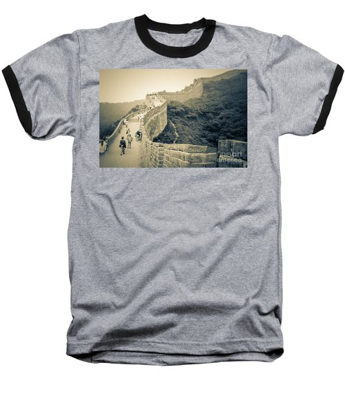 Baseball T-Shirt featuring the photograph The Great Wall Of China by Heiko Koehrer-Wagner