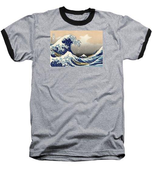 The Great Wave Off Kanagawa Baseball T-Shirt