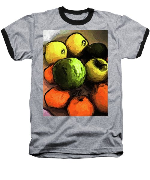 The Green And Gold Apples With The Orange Mandarins Baseball T-Shirt