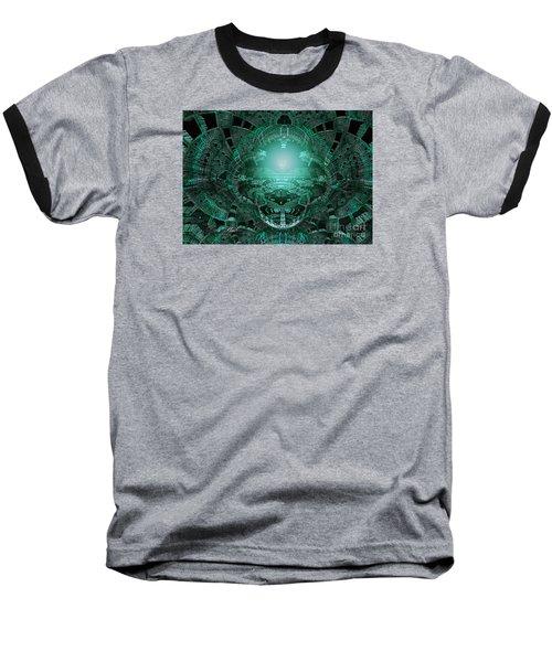 Baseball T-Shirt featuring the digital art The Green Glow by Melissa Messick