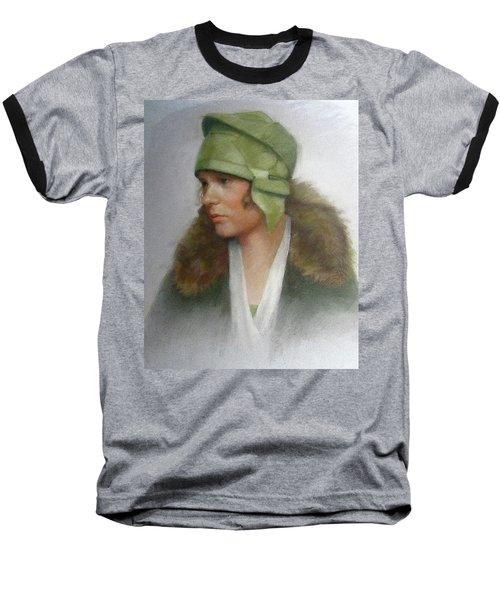 The Green Hat Baseball T-Shirt by Janet McGrath