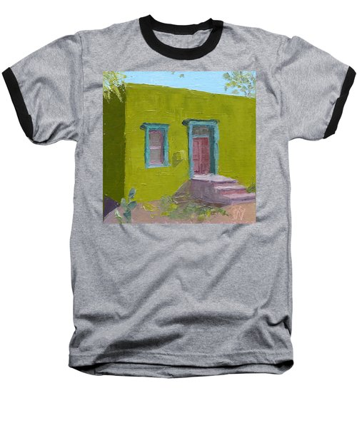 The Green House Baseball T-Shirt by Susan Woodward