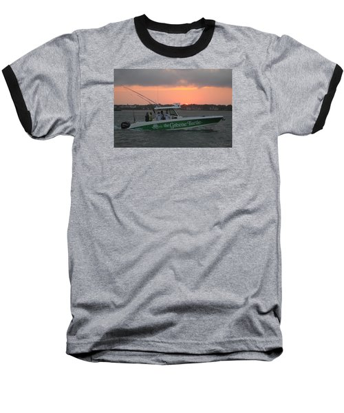 Baseball T-Shirt featuring the photograph The Greene Turtle Power Boat by Robert Banach