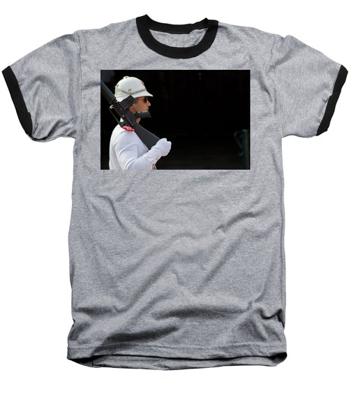 Baseball T-Shirt featuring the photograph The Guard by Keith Armstrong