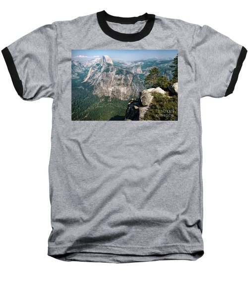 The Half Dome Yosemite Np Baseball T-Shirt