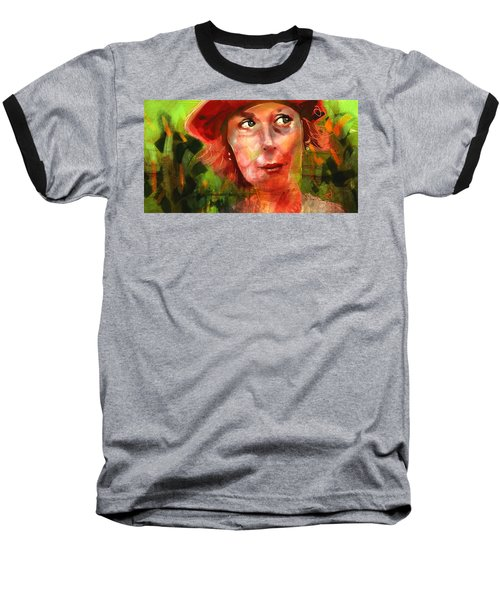 Baseball T-Shirt featuring the painting The Happy Gardener by Jim Vance