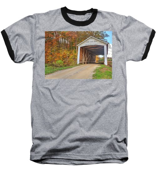 Baseball T-Shirt featuring the photograph The Harry Evans Covered Bridge by Harold Rau