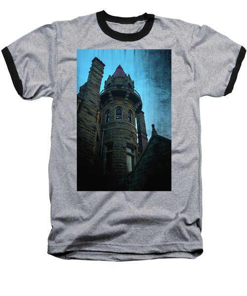The Haunted Tower Baseball T-Shirt by Keith Boone
