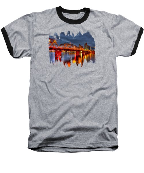 Baseball T-Shirt featuring the photograph The Hawthorne Bridge - Pdx by Thom Zehrfeld